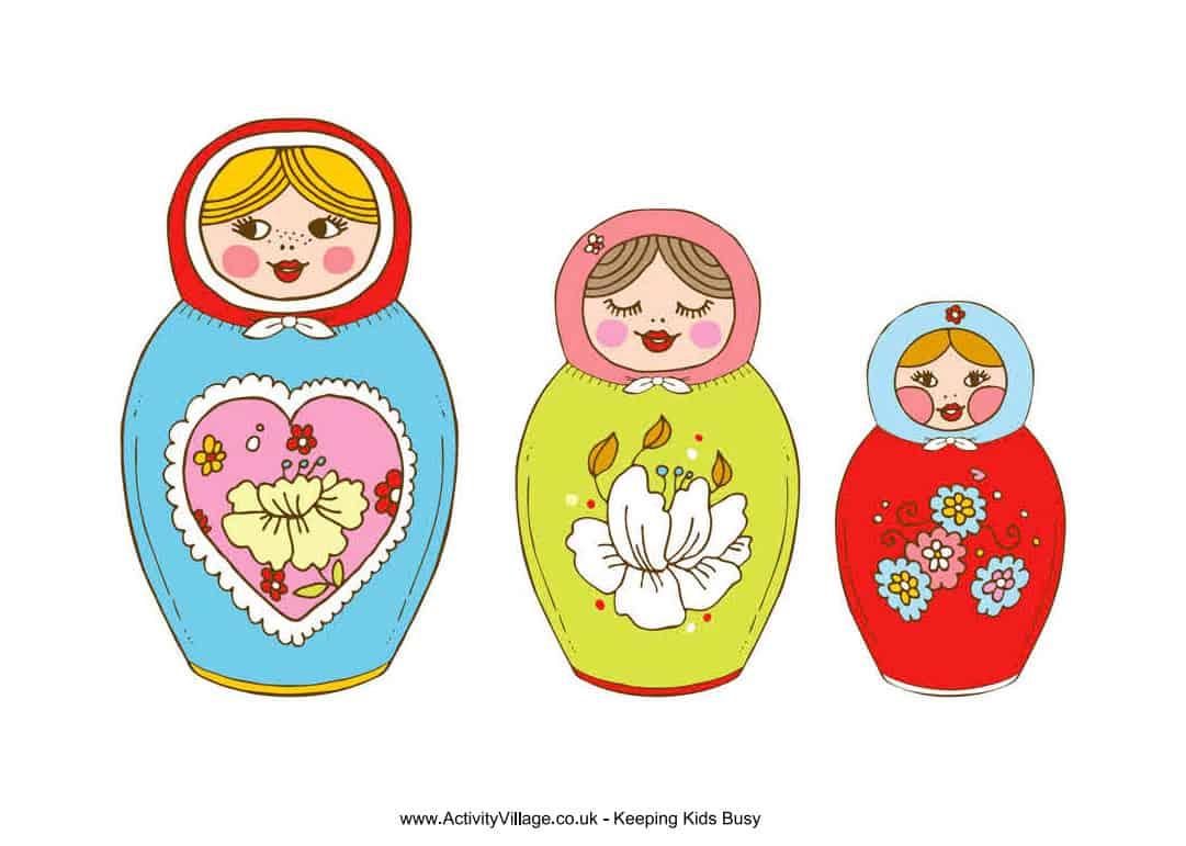 9 Cute Matryoshka Nesting Doll Crafts