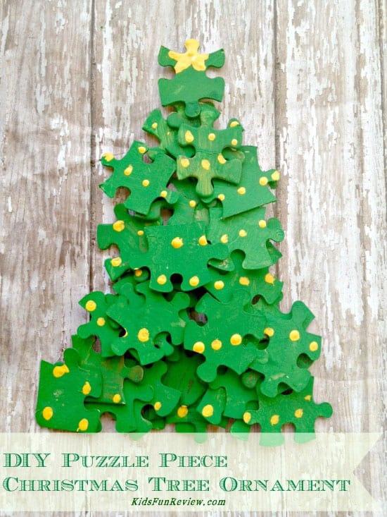 DIY CHRISTMAS TREE PUZZLE
