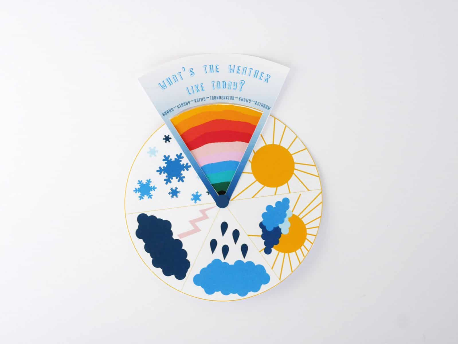 Free Printable Weather Learning Wheel For Kids