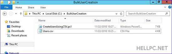 How To Create Bulk Users in Active Directory Using