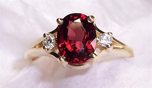 Womens Garnet Ring
