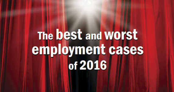 Employment Law Case Reviews of 2016.