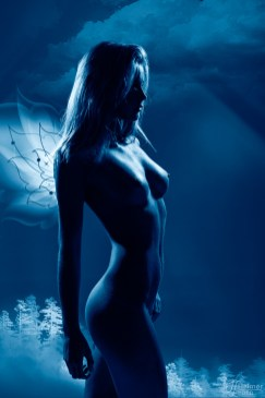 Sample from my nude art projects - Blue angel, based on TFP.