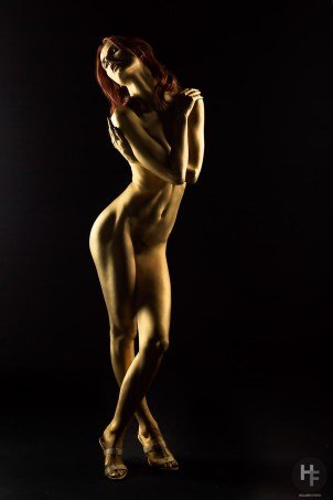 "Sample from my latest shoot called ""Golden Girl"". Nude art"