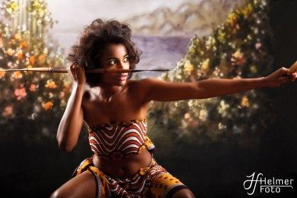Model: Iman Kerigo Makeup: Marit Abrahamsen