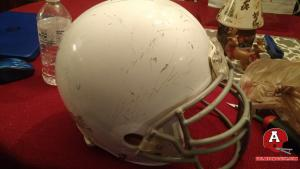Before Shot Of Custom Raiders Helmet. Heavily Damaged.