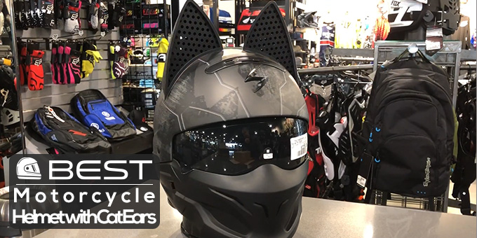Motorcycle Helmet with Cat Ears