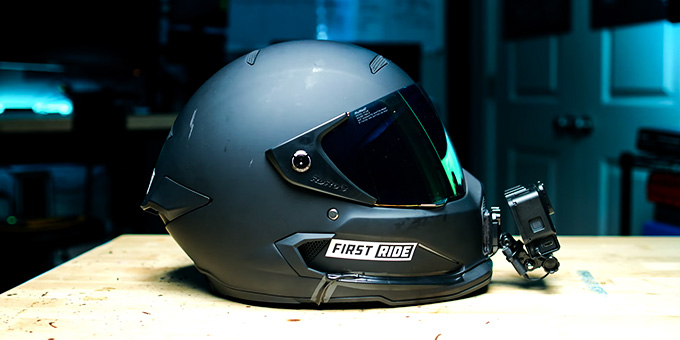 Motorcycle Helmet with GoPro Mount Review