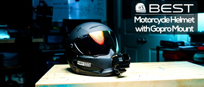Motorcycle Helmet with GoPro Mount