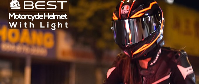 Motorcycle Helmet with Light