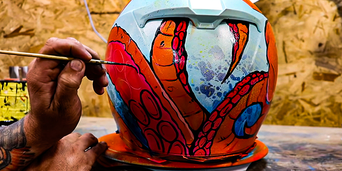 Can You Paint A Motorcycle Helmet
