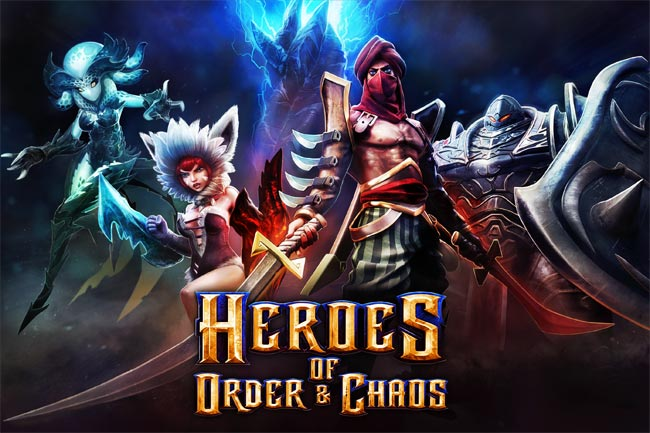 Heroes of Order and Chaos gameplay