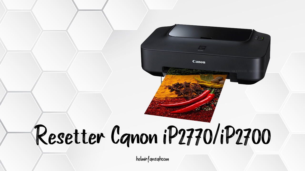 Resetter canon ip2770