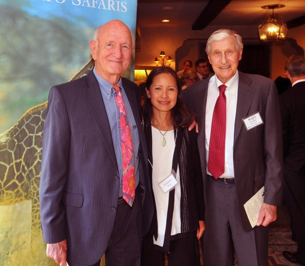 Former H.E.L.P. Board Chair, Rod Burkley and his wife, Lauren Phan, congratulate Ralph Scriba on his Lifetime Achievement Award