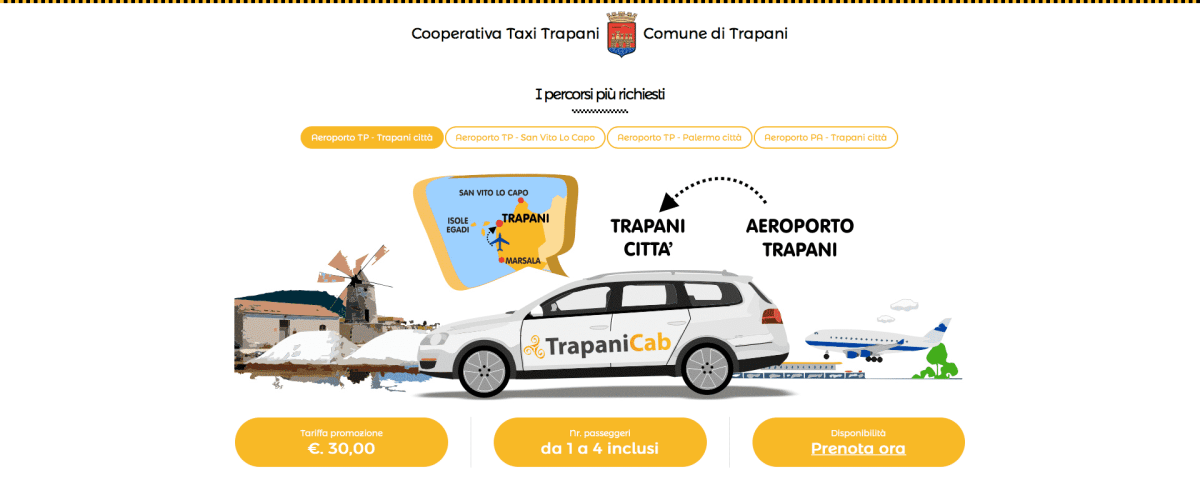 Taxi Trapani Now