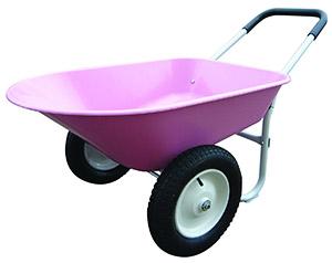 Pink Two-Wheeled Marathon Wheelbarrow or Garden Cart
