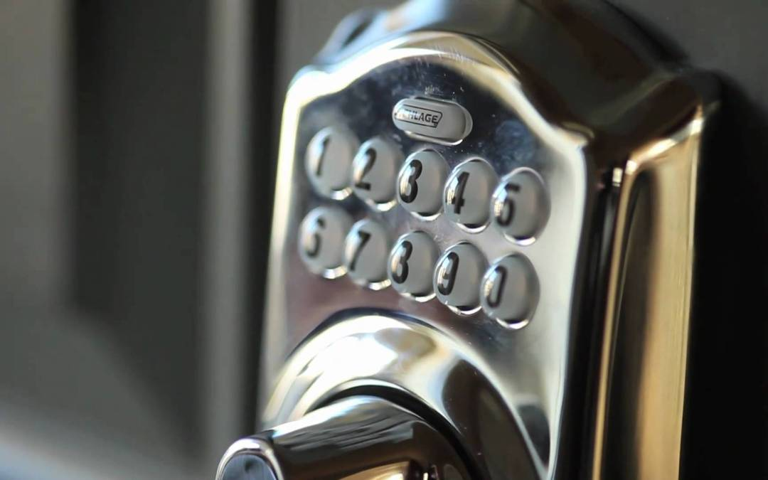 Schlage Keyless Deadbolt Lock Mounted