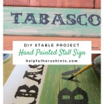 Diy Hand Painted Stall Signs Helpful Horse Hints