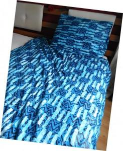 Dekbedovertrek in de kleur blauw