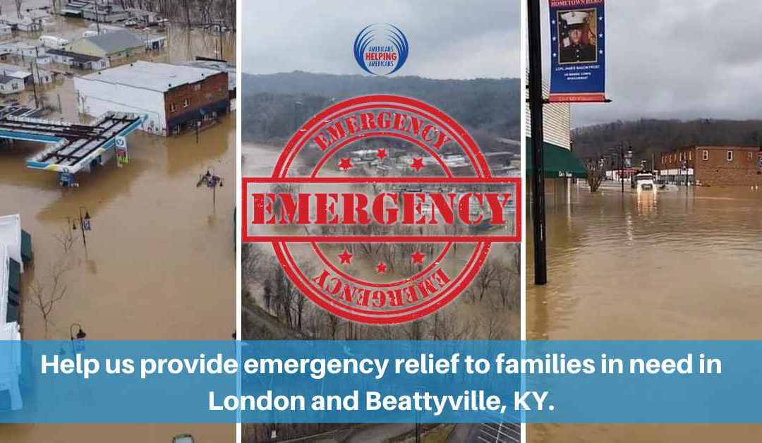 Americans Helping Americans Aims to Provide Immidiate Relief to Families Impacted by a Flood in Kentucky