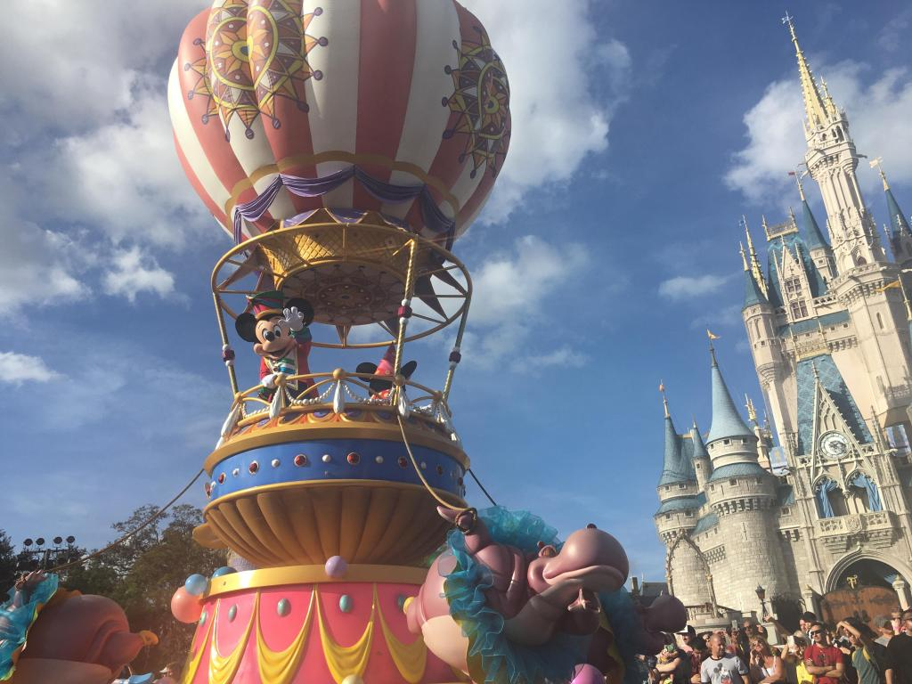 Mickey Mouse at Disney World Parade