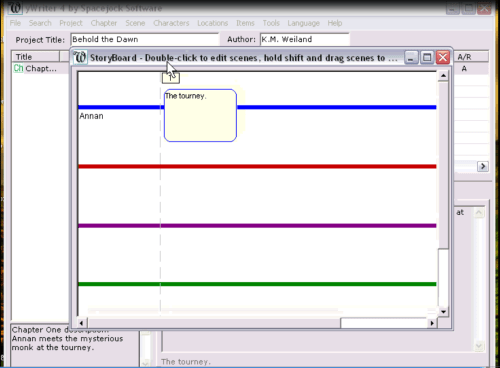 Storyboard Feature in yWriter Writing Software Tutorial