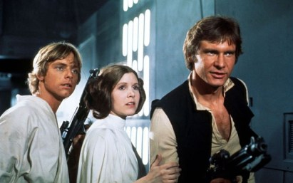 Star Wars New Hope Luke Skywalker Princess Leia Han Solo