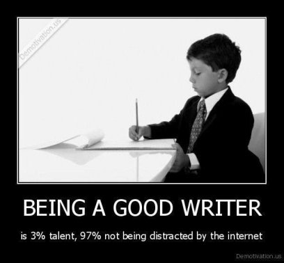 Good Writing Is 3 Percent Talent and 97 Percent Not Being Distracted by the Internet