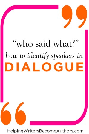 Who Said What? - Identifying Dialogue Speakers