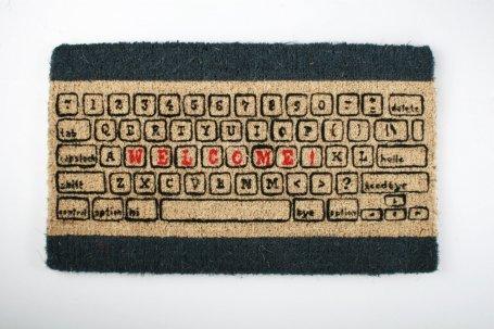 Computer Keyboard Welcome Doormat
