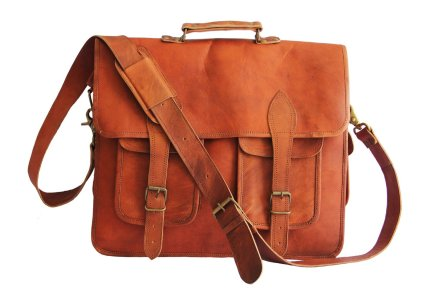 Distressed Leather Laptop Case