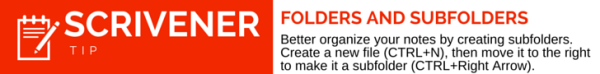 Scrivener Tip Folders and Subfolders