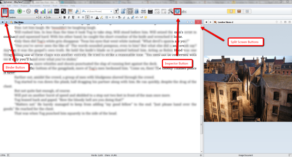 Writing_Process_Scrivener_Split_Screen
