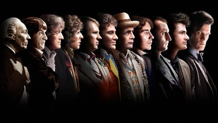 Dr Who Regeneration One Through Eleven Day of the Doctor