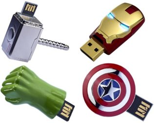 2 Avengers Flash Drives