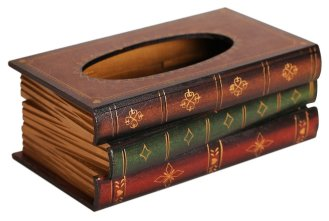 22 Books Tissue Box Cover