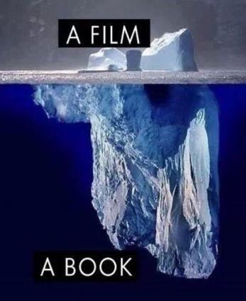 Books vs. Movies Iceberg Comparison