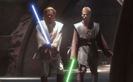 Attack of the Clones Anakin Skywalker Obi-Wan Kenobi Duel Count Dooku