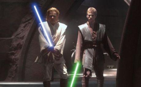 Attack of the Clones Anakin Skywalker Obi-Wan Kenobi Duel Count Dooku