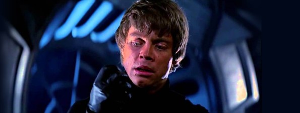 Luke Skywalker Looks at His Hand After Dueling Darth Vader