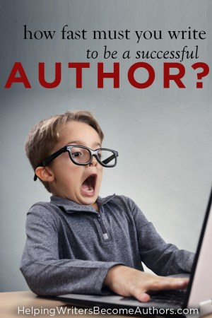 How Fast Must You Write To Be A Successful Author?