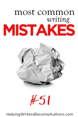 Most Common Writing Mistakes, Pt  51: One-Dimensional