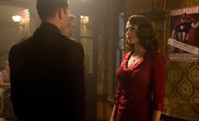 Captain America First Avenger Bar Scene Peggy Red Dress