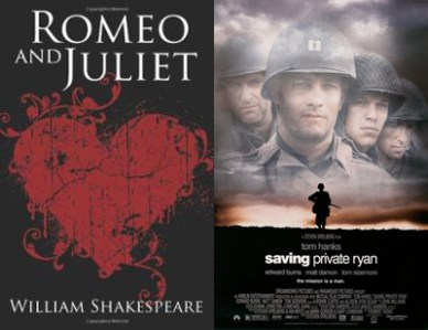 Romeo and Juliet Saving Private Ryan