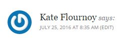 Kate Flournoy on why writing is important