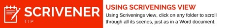 Using Scrivenings View in Scrivener