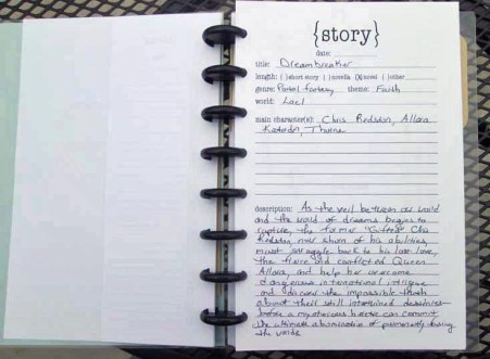 WriteMind Planner Writing Journal Story Idea Page