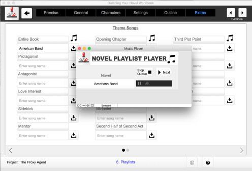 Outlining Your Novel Workbook Computer Program Playlist Player