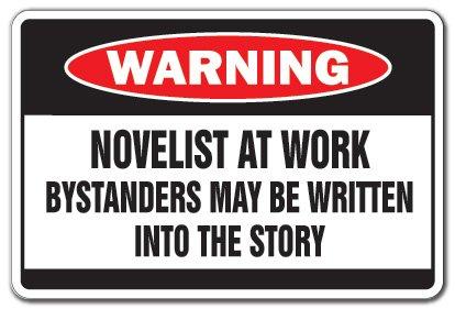 1 Warning Novelist at Work