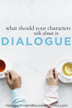 What Should Your Characters Talk About in Dialogue Pinterest